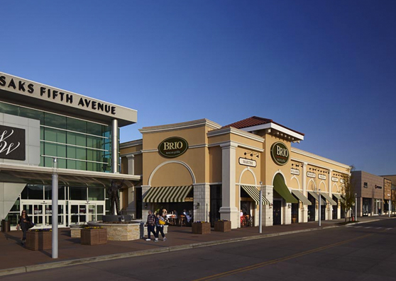 exterior of shopping center